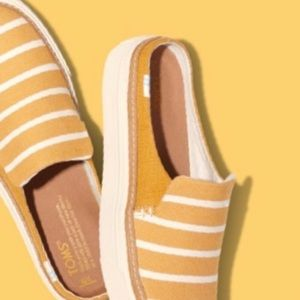 Toms Riviera Striped Sunflower Yellow